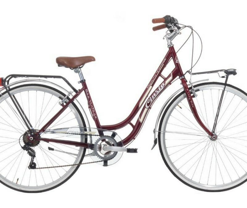"Cinzia 28"" CTB BEAUTY 6B V-Brake Burgundy"