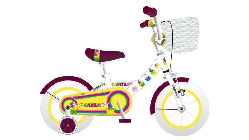 """Neuzer bicikl dječiji BMX 12"""" Bijeli ženski"""